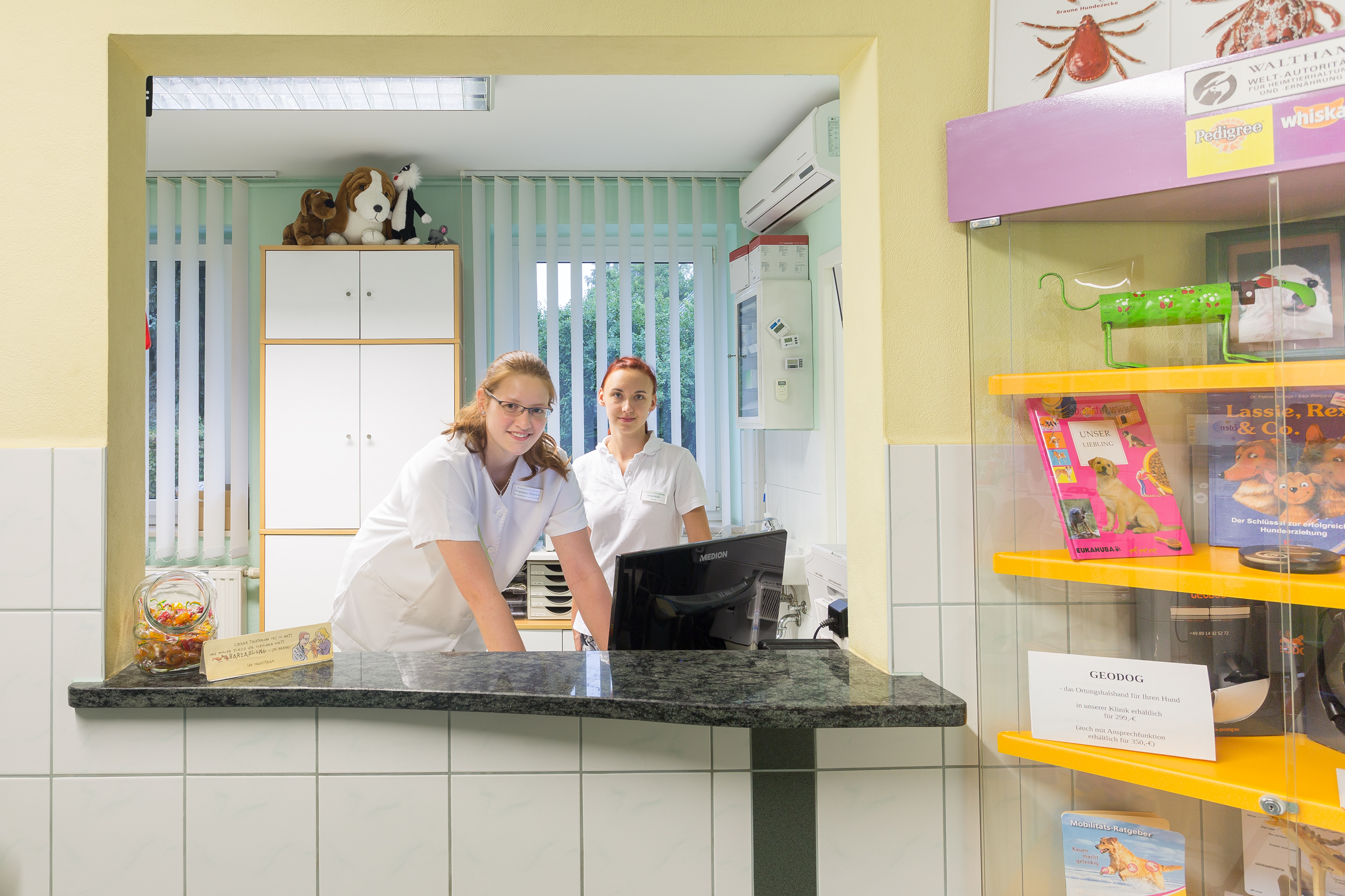 Anmeldung in der Tierklinik