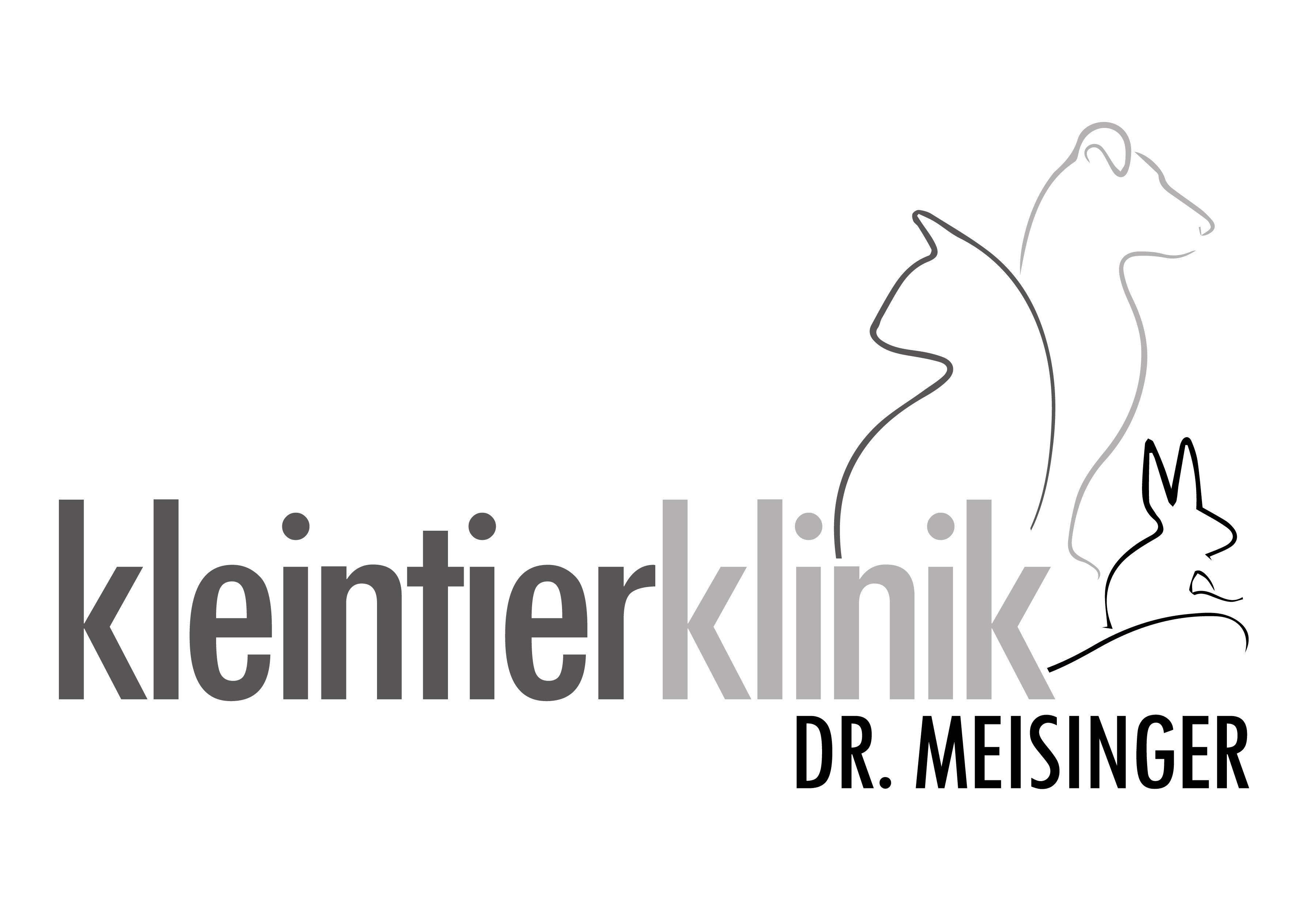 Hauptlogo in Graustufen - Kleintierklinik Dr. Meisinger