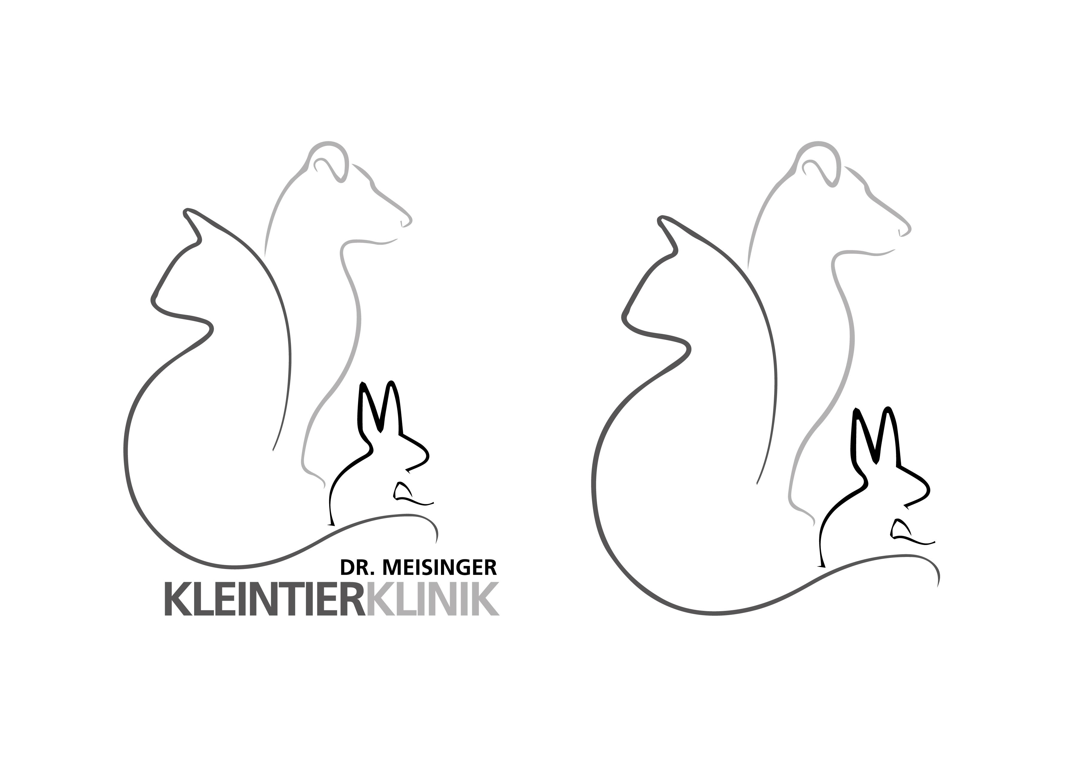 Alternativeslogo in Graustufen - Kleintierklinik Dr. Meisinger