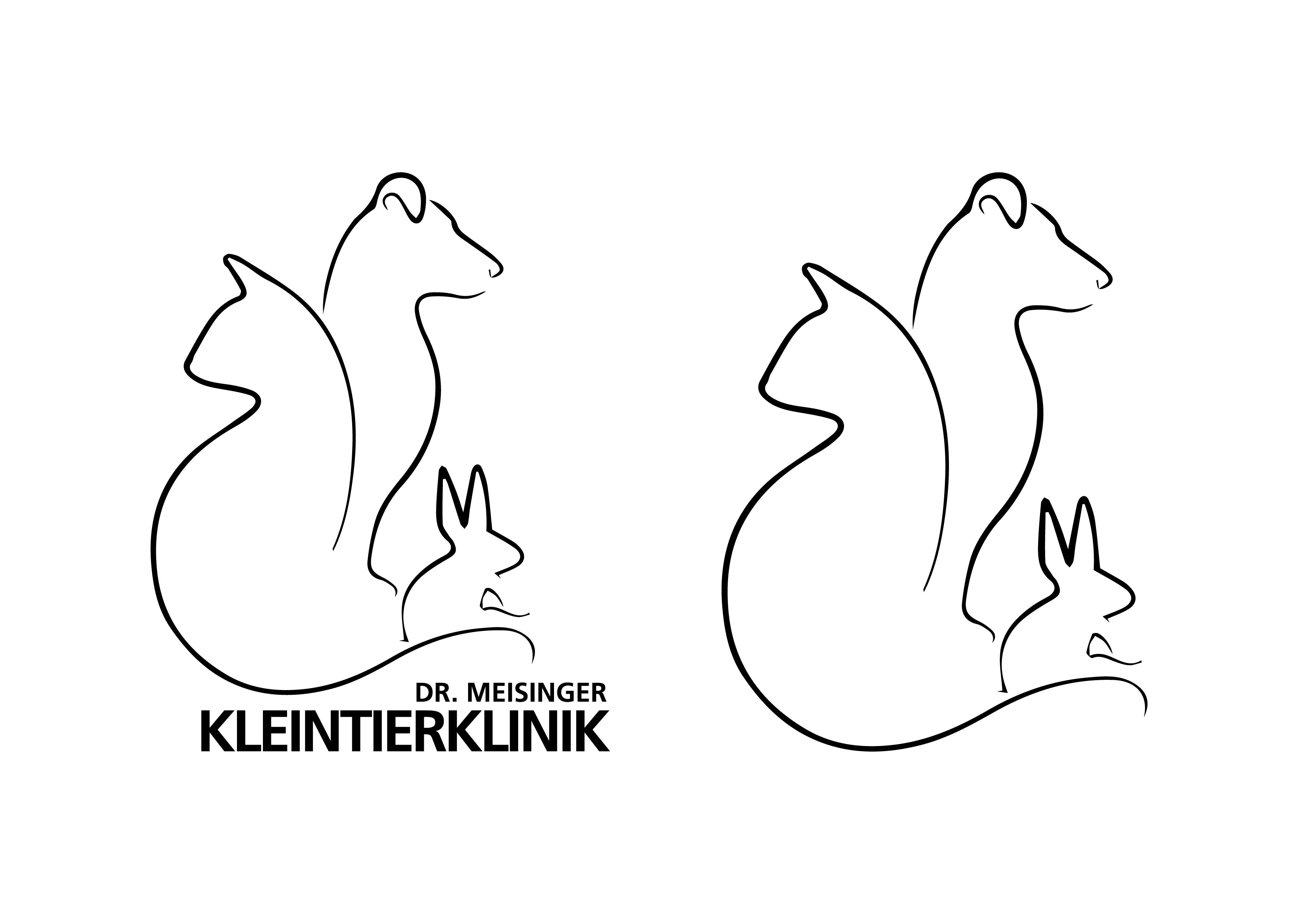 Alternativeslogo in SW für Fax uä - Kleintierklinik Dr. Meisinger